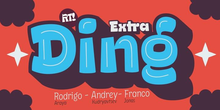 DingExtra 可爱卡通系列英文字体下载