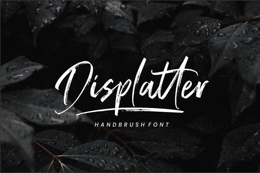 Displatter书法手写笔触英文字体下载