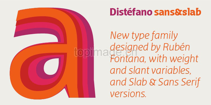 DistefanoSans现代无衬线logo杂志排版英文字体下载