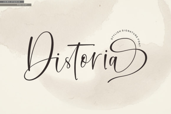 Distoria好看的花式logo英文字体下载