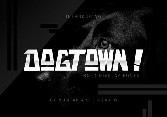 Dogtown个性无衬线英文字体下载