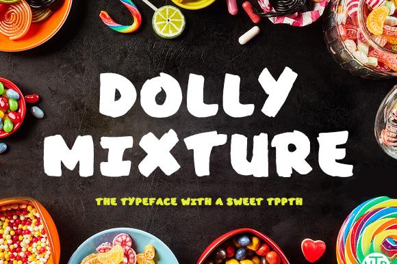 Dolly Mixture美食类墙绘手写英文字体下载