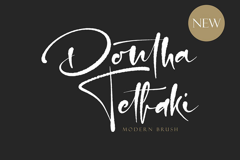 Dontha Tethaki潮流个性海报手写logo英文字体下载