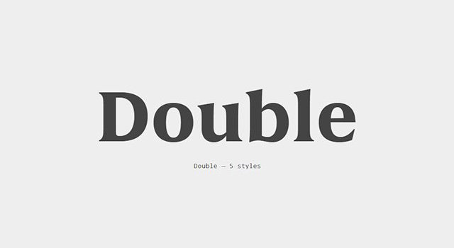 Double现代logo优雅英文字体下载