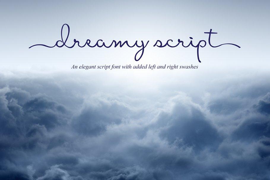 Dreamy连笔手写签名英文字体下载