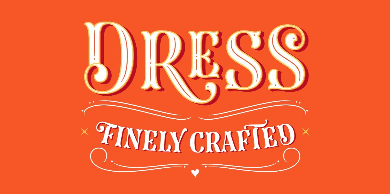 Dress哥特个性时尚有趣创意英文字体下载