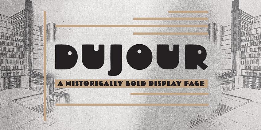 Dujour创意造型个性英文字体下载