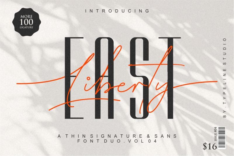 East liberty sans海报电商排版设计logo专用英文字体下载