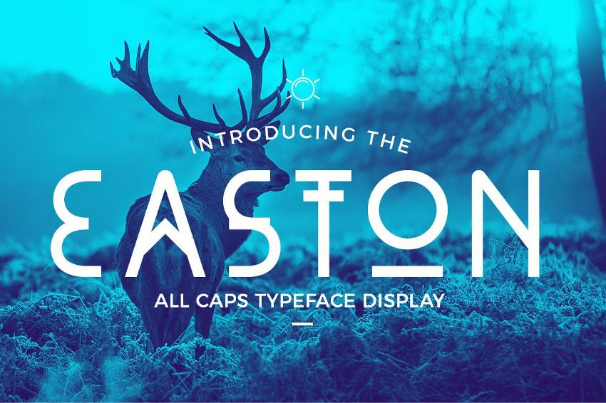Easton个性logo无衬线创意英文字体下载