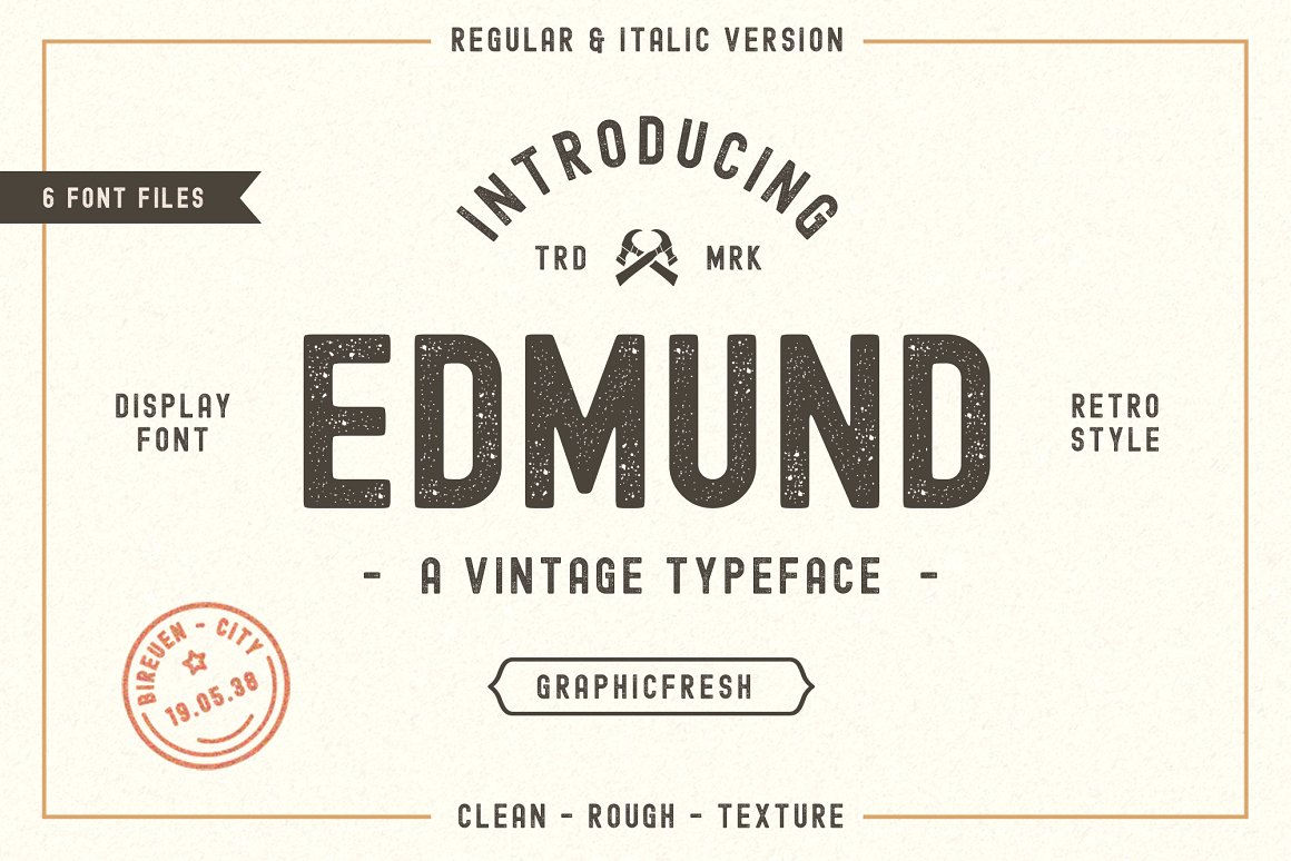 Edmund复古海报怀旧风英文字体下载