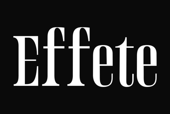Effete经典衬线logo英文字体下载