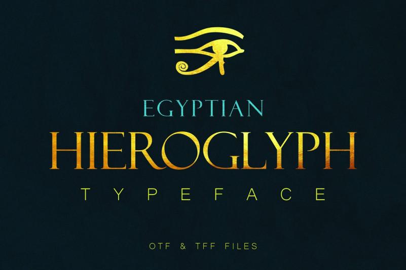 Egyptian_Hieroglyphs衬线经典设计英文字体下载