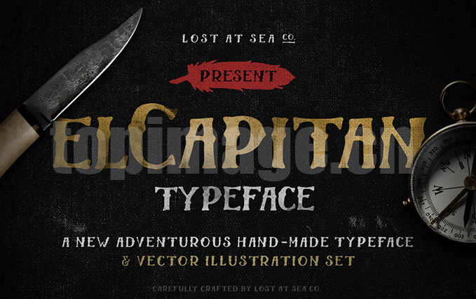 El_Capitan手写手绘个性复古英文字体下载