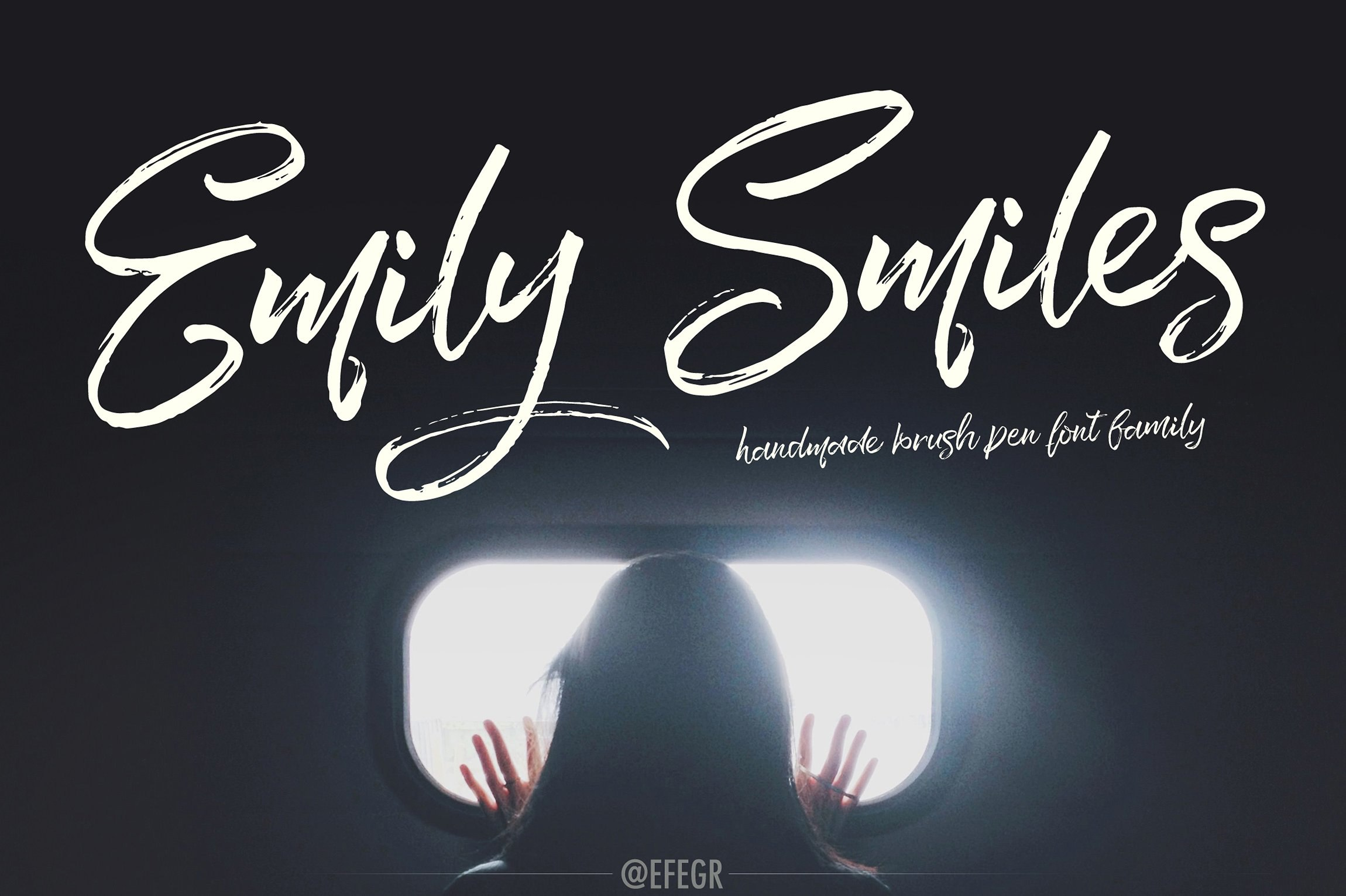 EmilySmiles马克手绘笔刷海报英文字体下载