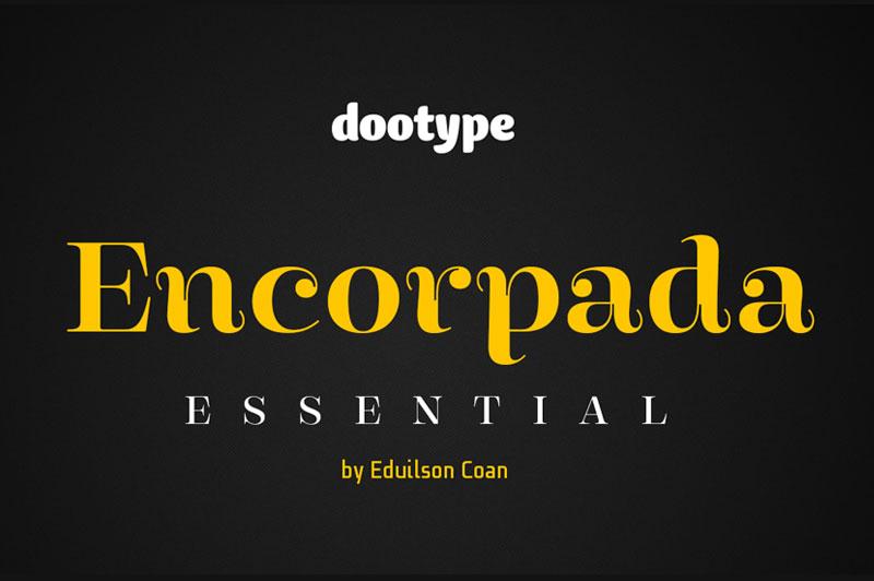 Encorpada Essential衬线logo英文字体下载