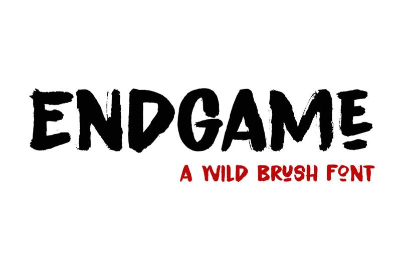 Endgame书法粗狂笔触英文字体下载