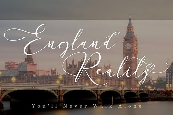 England_Reality婚礼花体好看的连笔英文字体下载