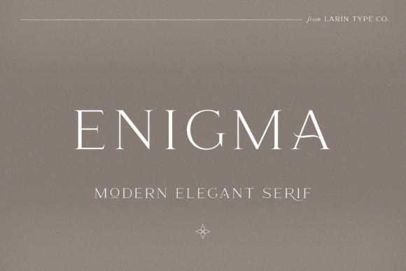 Enigma纤细衬线logo英文字体下载