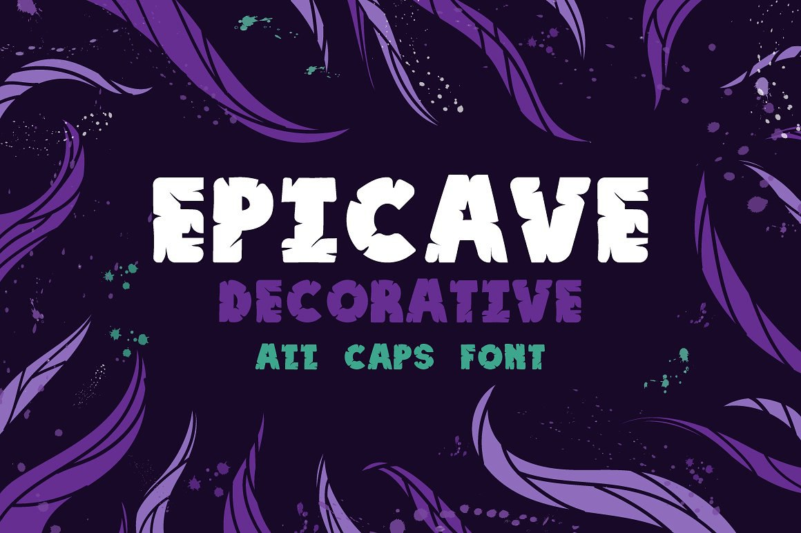 Epicave创意无衬线现代个性logo英文字体下载