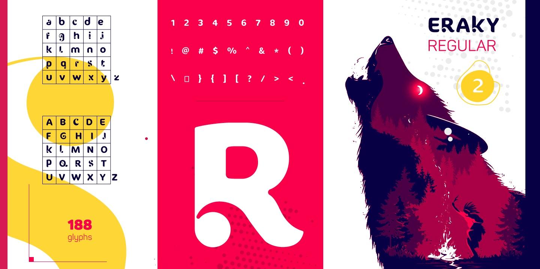Eraky创意无衬线logo设计英文字体下载