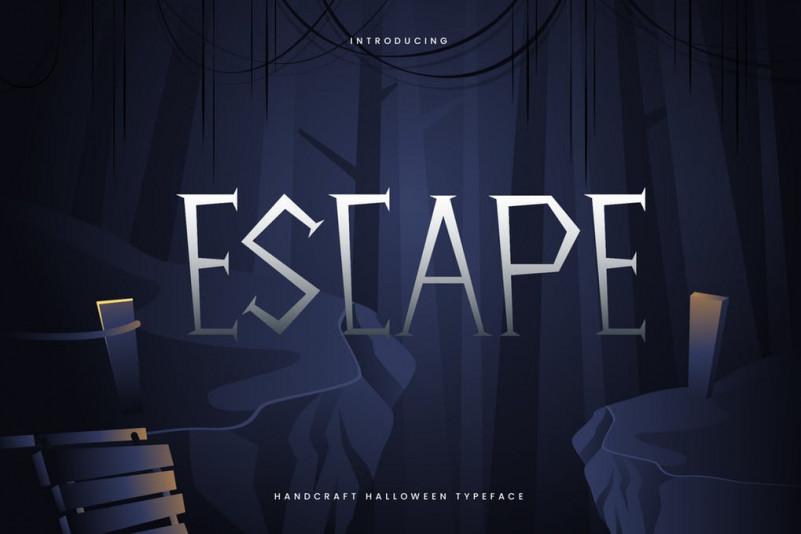 Escape个性创意设计英文字体下载