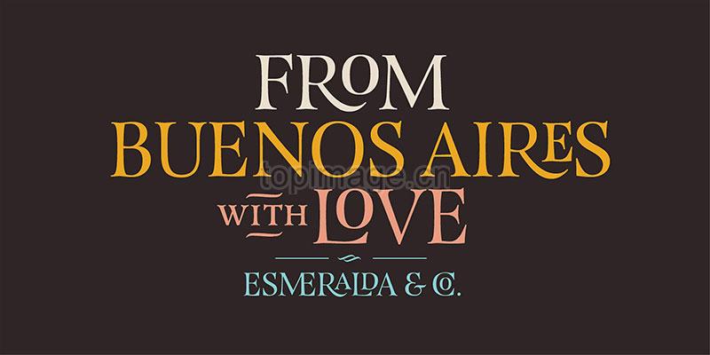 EsmeraldaPro现代衬线logo海报英文字体下载