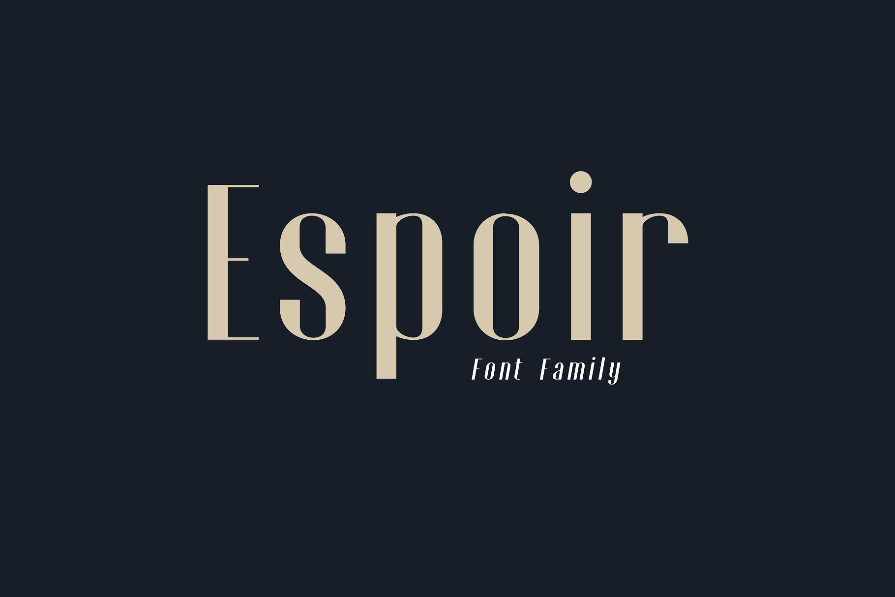 Espoir现代简约时尚海报logo英文字体下载