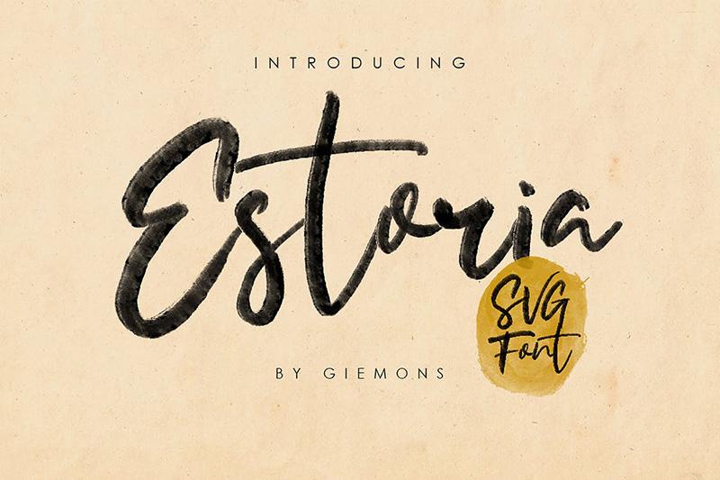 Estoria Script手写书法英文svg字体下载