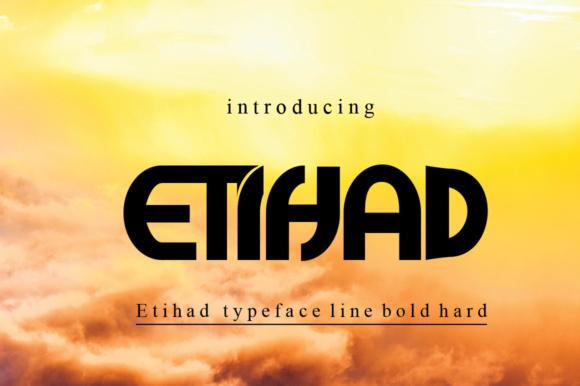 Etihad现代logo英文字体下载
