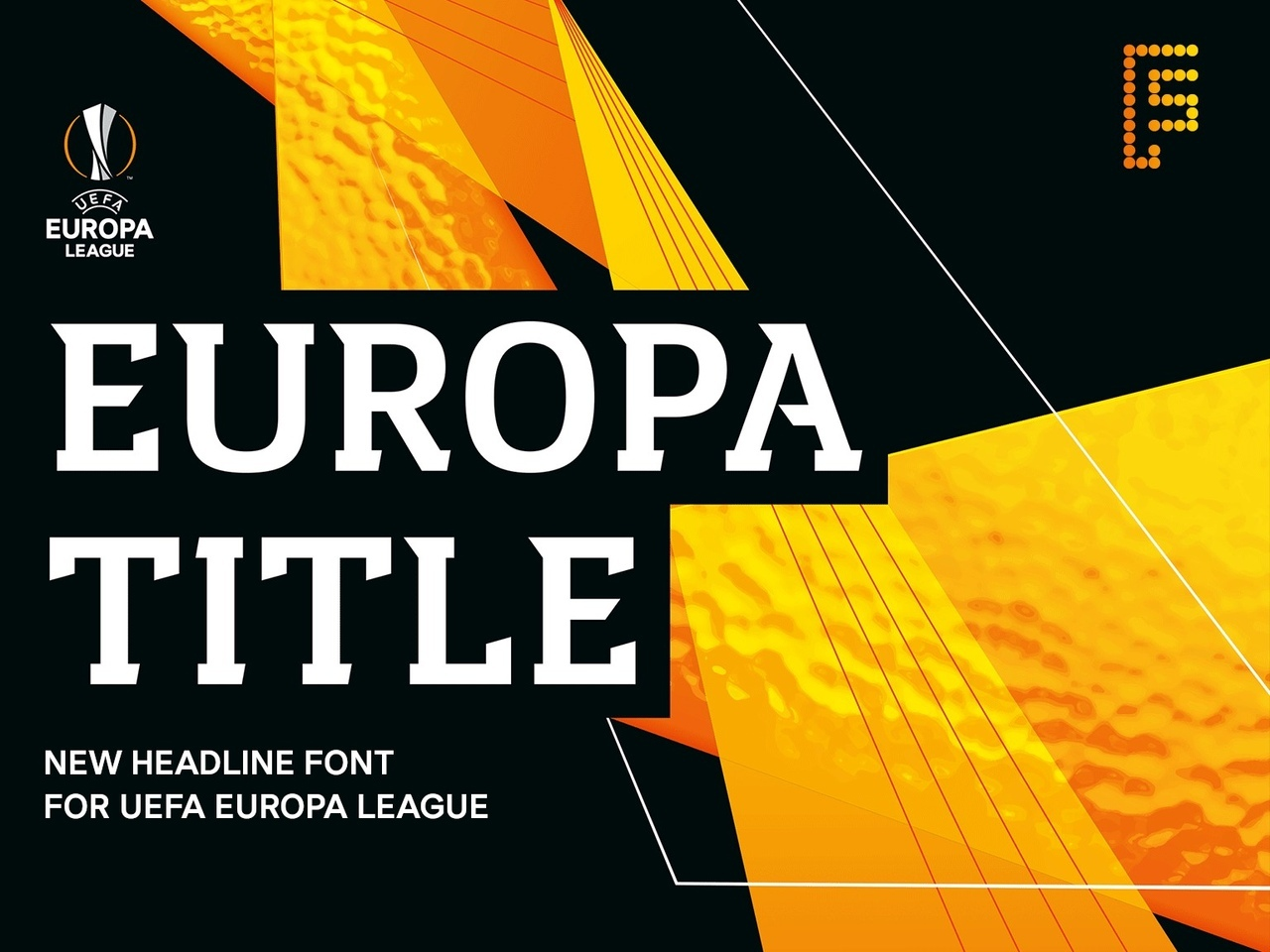 EuropaTitle创意海报个性标题logo英文字体下载
