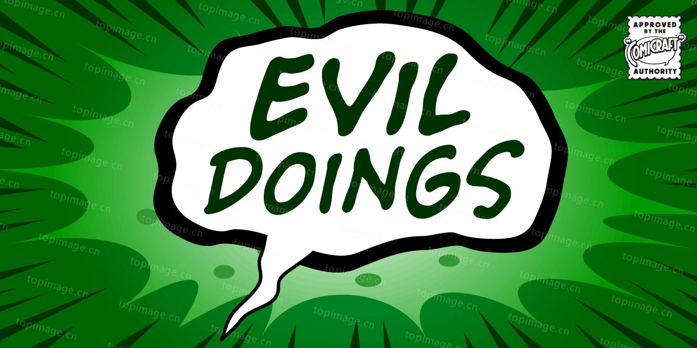EvilDoings时尚笔刷矢量卡通英文字体下载