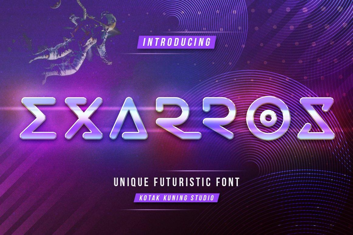 Exarros创意无衬线logo设计英文字体下载