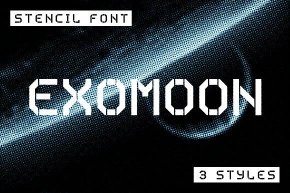 Exomoon现代无衬线logo英文字体下载