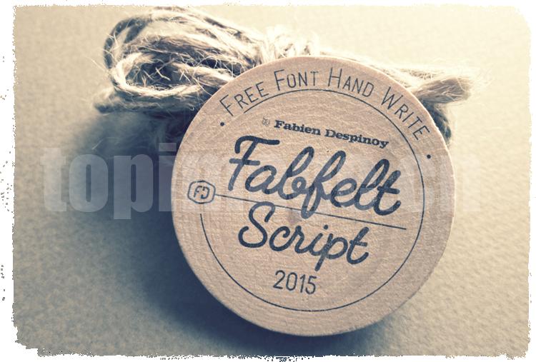 FabfeltScript手绘手写铅笔签名个性英文复古字体下载