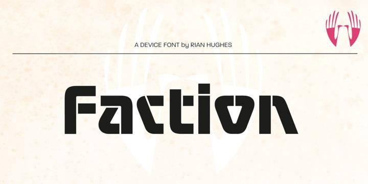 Faction现代logo无衬线英文字体下载