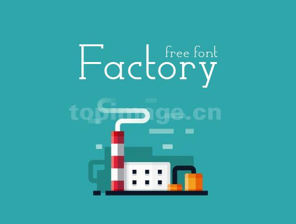 factory衬线简洁海报英文字体下载