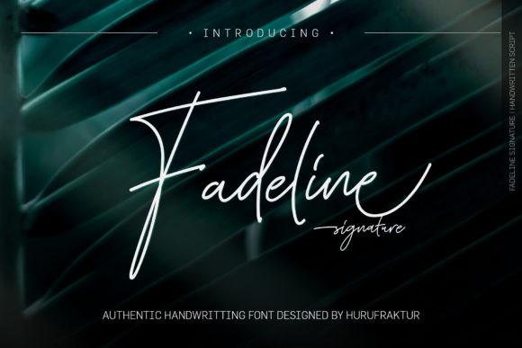 Fadeline手写ins风签名文艺英文字体下载
