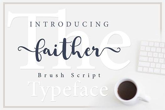 Faither Modern Brush手写连笔花体文艺英文字体下载