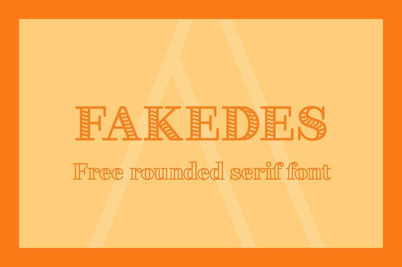FakedesOutline空心底纹logo衬线英文字体下载