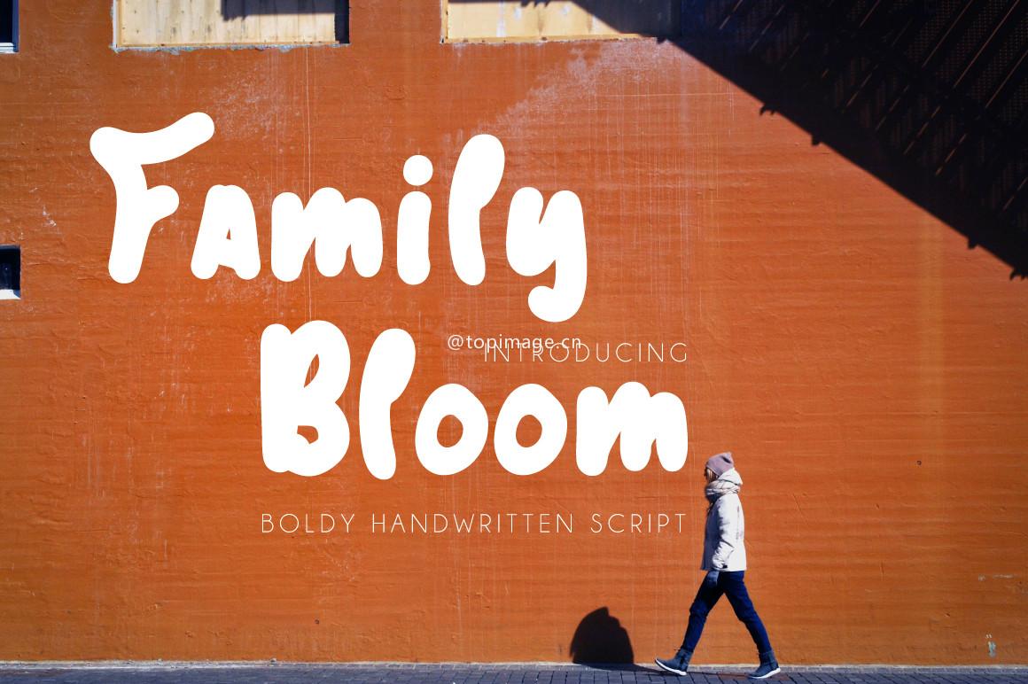 familybloom时尚趣味卡通手绘英文字体下载