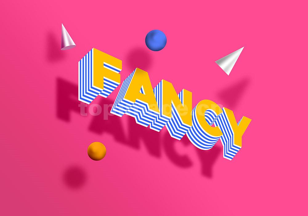 立体字fancy 3d 字体样式效果psd源文件下载