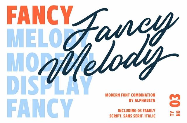 Fancy Melody 连笔手写艺术街头涂鸦英文字体下载