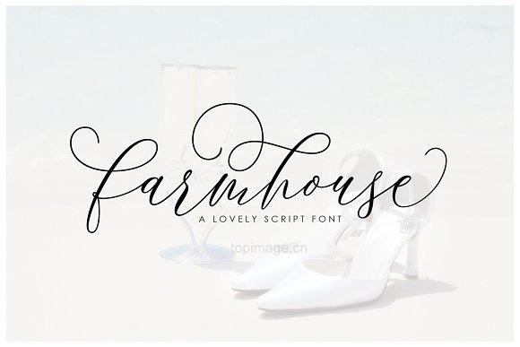 Farmhouset手写艺术连笔花体英文字体下载