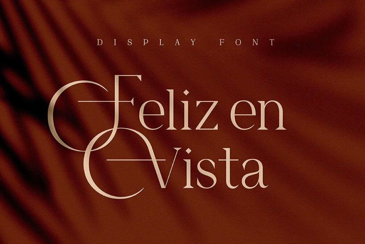 FelizEnVista衬线时尚英文字体下载