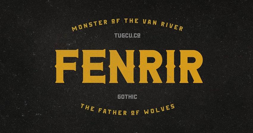 Fenrir Gothic哥特骨节英文字体下载