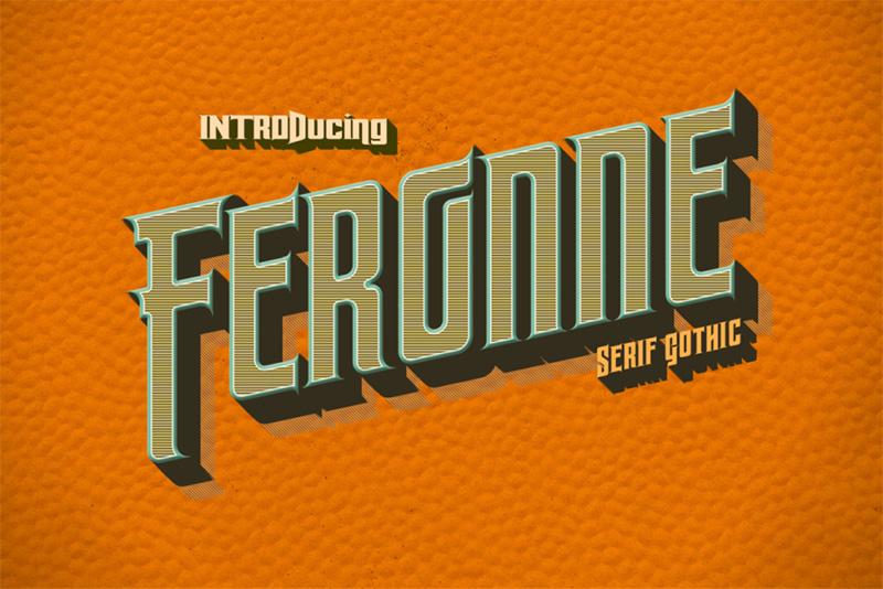 feronne运动品牌极速风格logo英文字体下载