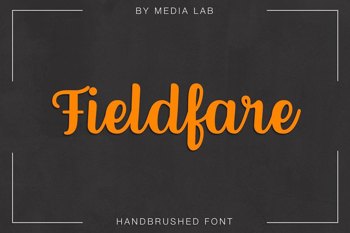 Fieldfare大气时尚连笔logo名片设计英文字体下载