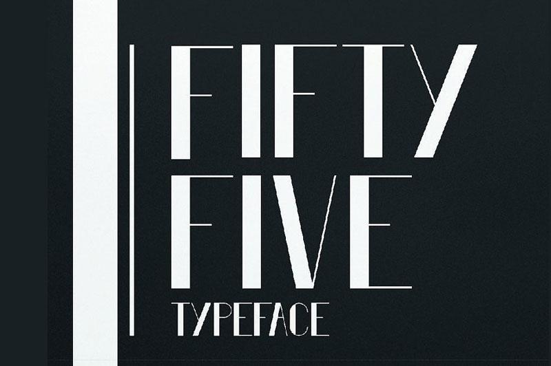 Fifty Five现代极细logo英文字体下载