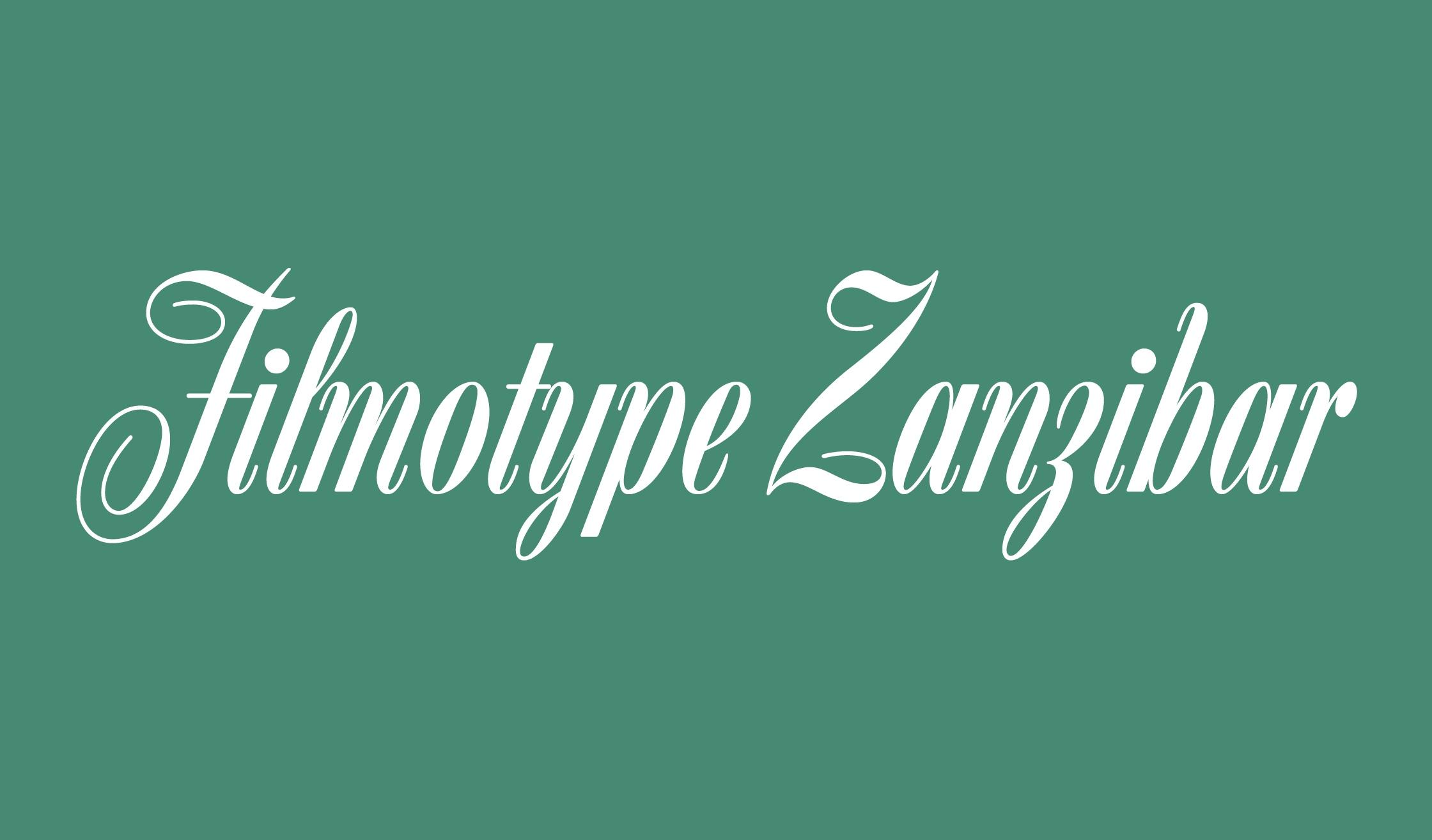 Filmotype Zanzibar花体唯美好看的英文字体下载