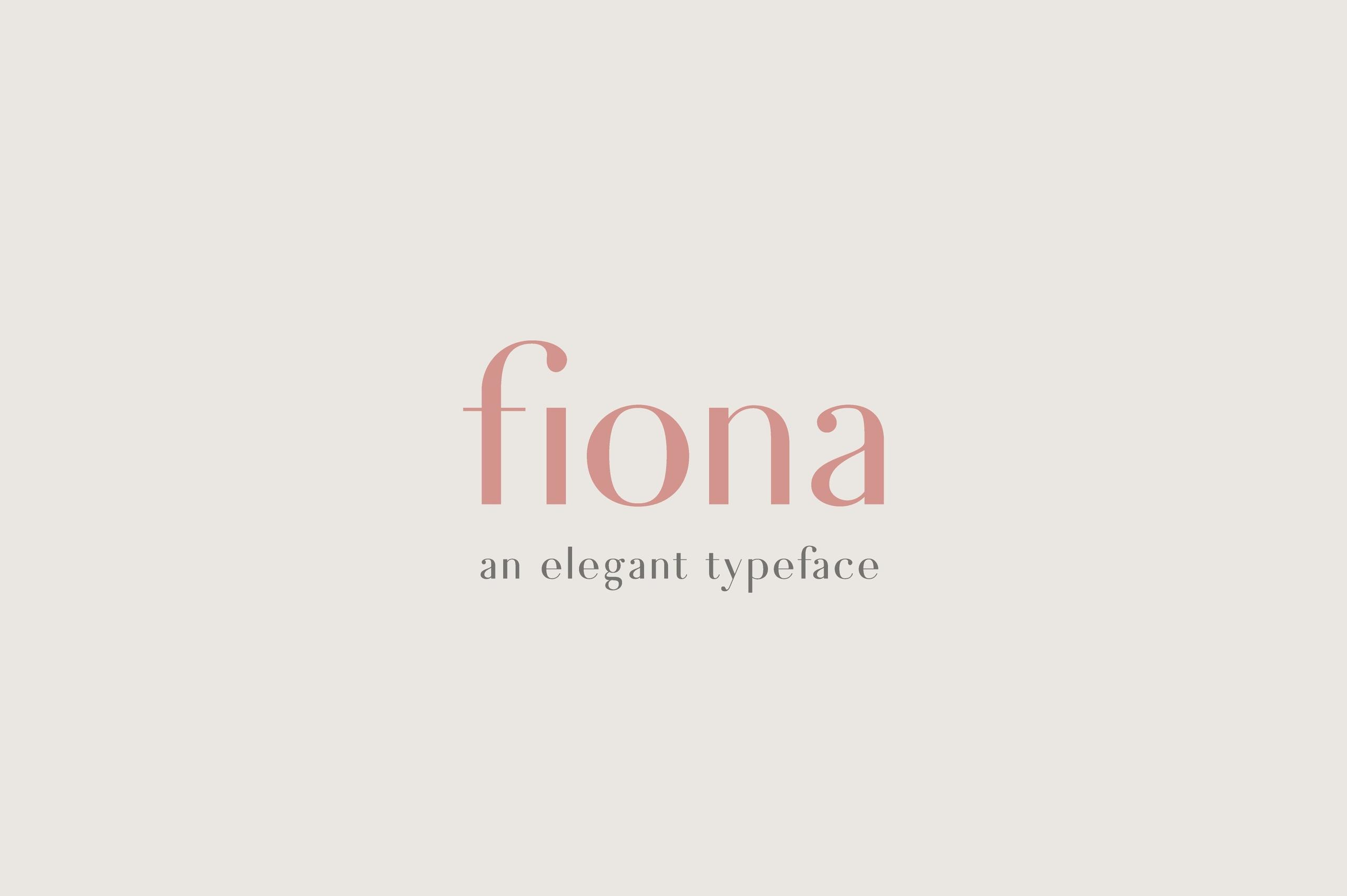 Fiona经典衬线时尚女装品牌logo英文字体下载